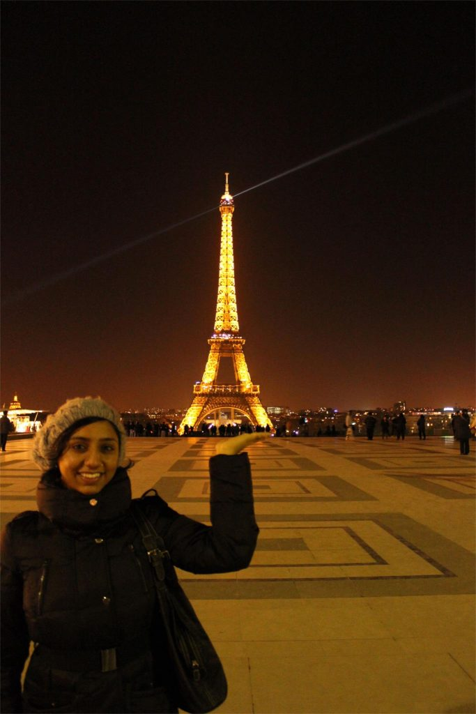 Feb 2013 - Visiting the Eiffel Tower.