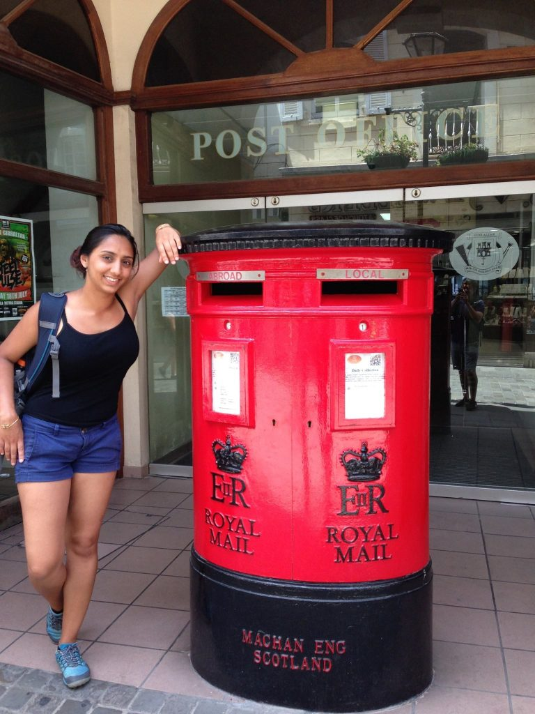 July 2014 - Exploring mailboxes in Gibraltar.