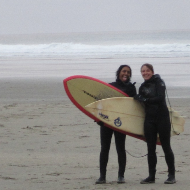 Summer 2010 - Surfing at Agate Beach, Newport, OR.
